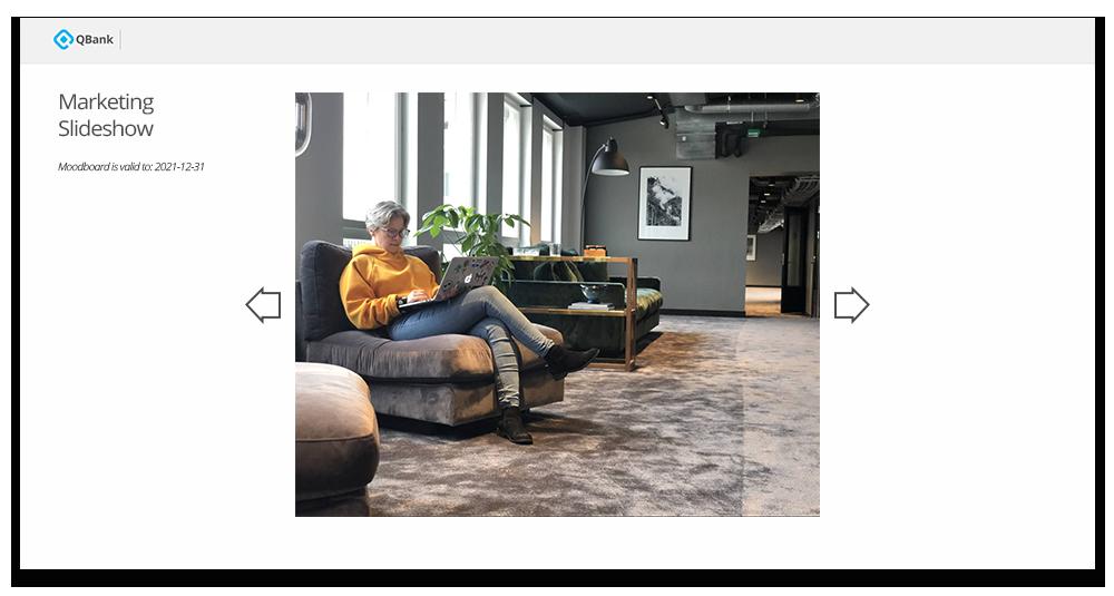 QBank Slide show Moodboard