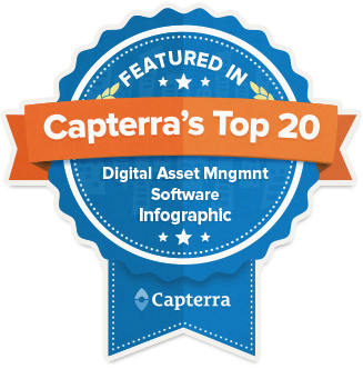 Capterra featured top20 dam badge