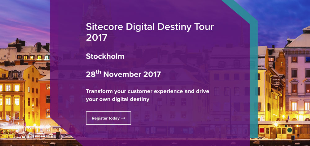 Sitecore Digital Destiny Tour