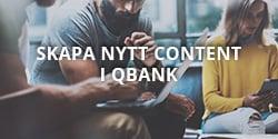 Skapa content i QBank